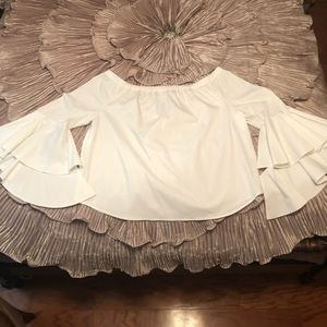 White off shoulder too with bell sleeves